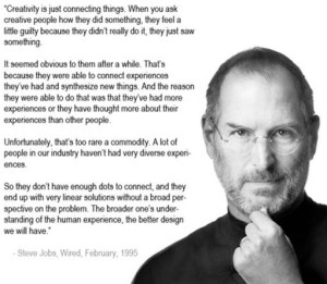 This is a picture of one of Steve Jobs' Quote.